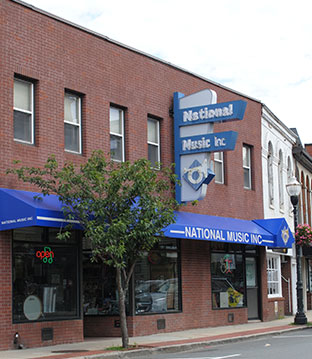 National Music, Inc. in Downtown Woburn, MA